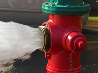 Установка надземных пожарных гидрантов