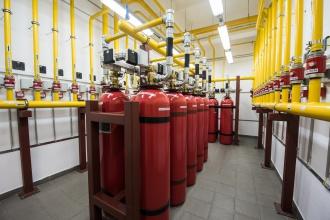 Газовое пожаротушение для серверной